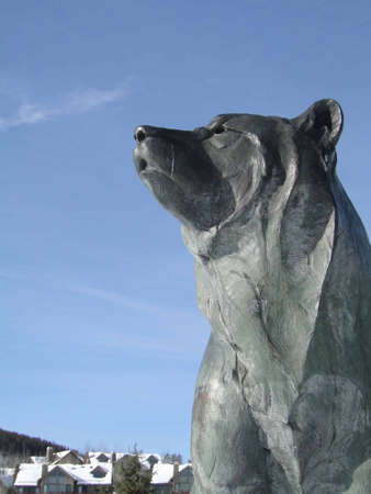 Large bear, a modern sculpture   in Colorado