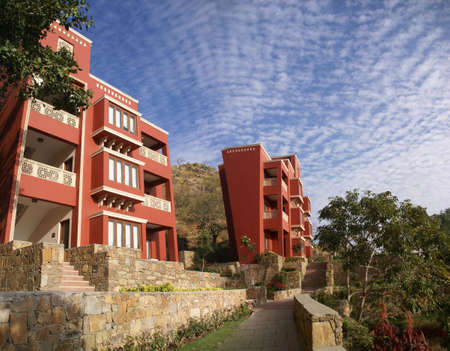timeshare: Modern hotel in mountains of Rajasthan    India, Asia