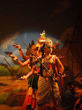 khajuraho: KHAJURAHO, INDIA - NOV 4 -  Indian dancer performs classical dance  on Nov 4, 2009  in Khajuraho, India.                        Editorial