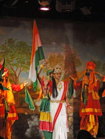 KHAJURAHO, INDIA - NOV 4 -  Indian dancers perform a traditional dance  on Nov 4, 2009  in Khajuraho, India. Stock Photo - 6896217