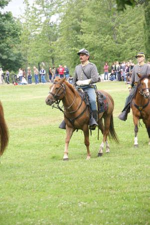 cavalry: Confederate cavalry patrols the field