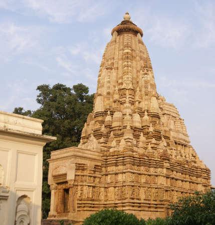 khajuraho: Shikara decorations on the Parsavanatha, Jain Temple, Khajuraho, India