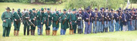 PORT GAMBLE, WA - JUN 20  - Union infantry in line formation for review on Jun 20, 2009 in Port Gamble WA Editorial