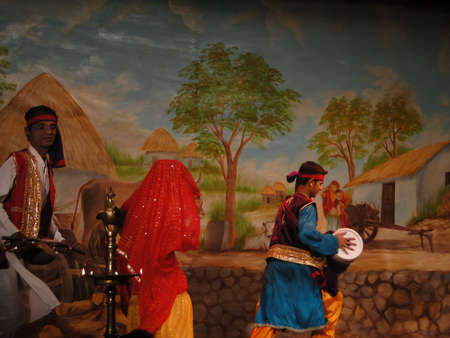 khajuraho: KHAJURAHO, INDIA - NOV 4 - Indian dancers perform a traditional dance on Nov 4, 2009 in Khajuraho, India.