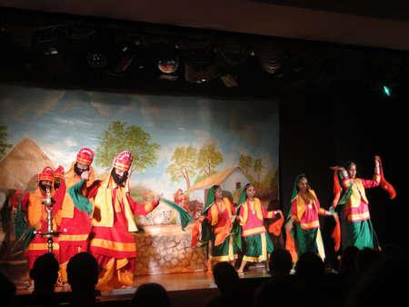 indian classical dance: KHAJURAHO, INDIA - NOV 4 - Indian dancers perform a traditional dance on Nov 4, 2009 in Khajuraho, India.