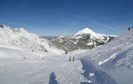 High alpine ski area in French Alps photo