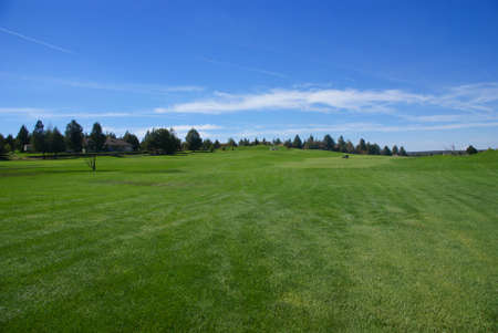Golf course, green fairway, blue sky,		Eagle Crest Resort Golf Course,	Central Oregon