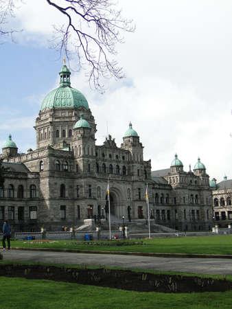provincial: Provincial Parliament buildings in Victoria, BC, Canada                           Stock Photo