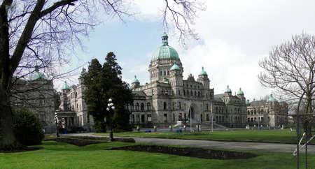 Provincial Parliament buildings in Victoria, BC, Canada                           Banco de Imagens