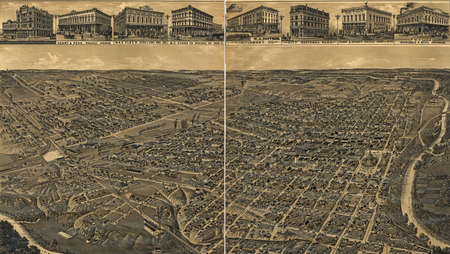 lithograph: 1886 Fort Worth, Texas,  The Queen of the Prairies, county seat of Tarrant County .  From H. Wellge, sk. Beck & Pauli, lithograph.  Public domain.