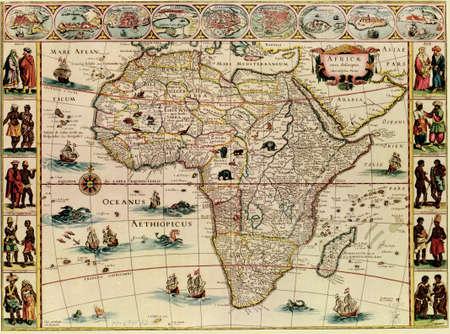 antique: Antique map of Africa.