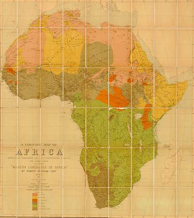 mapa de africa: Mapa de la lengua de África elaborado por EG Ravenstein en 1883