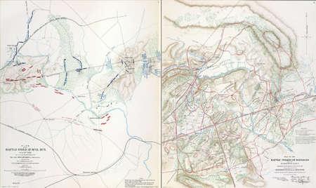 reb: Los mapas de los campos de batalla de Manassas 21 de julio 1861 de Atlas para acompa�ar a los Documentos Oficiales de la Uni�n y los ej�rcitos confederados, 1861 - 1865