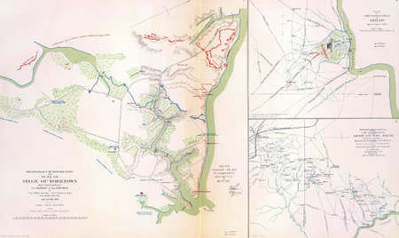 reb: Maps of the battlefield and siege of Yorktown  in 1862 from Atlas to Accompany the Official Records of the Union & Confederate Armies, 1861 - 1865   Editorial