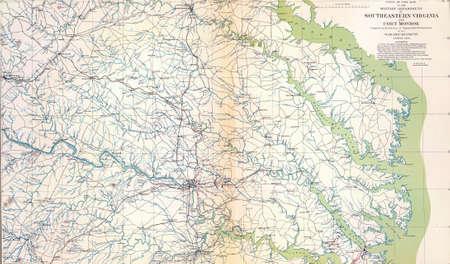 reb: Mapa del sureste de Virginia y Monroe Fort, de Atlas para acompa�ar a los Documentos Oficiales de la Uni�n y los ej�rcitos confederados, 1861 - 1865 1780016 Mapa del sureste de Virginia y Monroe Fort, de Atlas para acompa�ar a los Documentos Oficiales de la Uni�n y Editorial