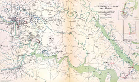 reb: Map of Southeastern Virgina and Fort Monroe,  from Atlas to Accompany the Official Records of the Union & Confederate Armies, 1861 - 1865  1780016  Map of Southeastern Virgina and Fort Monroe,    from Atlas to Accompany the Official Records of the Union &