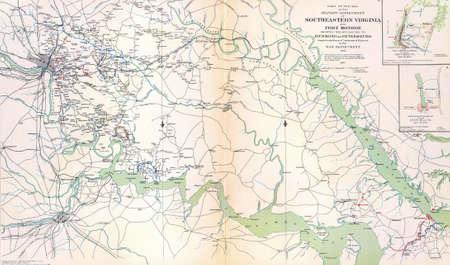 reb: Mapa del sudeste de Virginia y Fort Monroe, de Atlas para acompa�ar a los Registros Oficiales de la Uni�n y los ej�rcitos confederados, 1861 - 1865 1780016 Mapa del sudeste de Virginia y Fort Monroe, de Atlas para acompa�ar a los Registros Oficiales de la Uni�n y Editorial