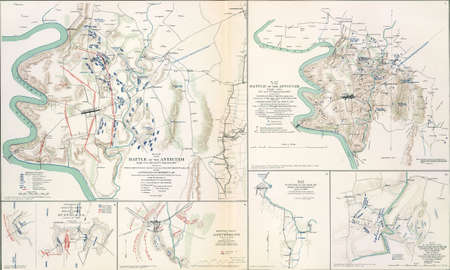 reb: Maps of the battlefield  of Antietam, 1862  from Atlas to Accompany the Official Records of the Union & Confederate Armies, 1861 - 1865