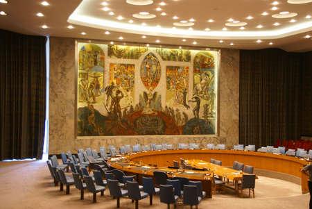 quartier g�n�ral: Conseil de s�curit� de chambre Si�ge des Nations Unies, New York City �ditoriale