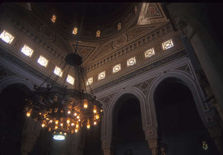 Interior,   Mosque of Mohammed Ali, Citadel Cairo,  Egypt, Middle  East