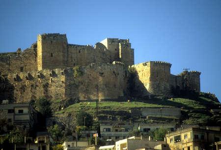 Krak des Chevaliers, de beroemdste Crusader kasteel, Syrië Redactioneel