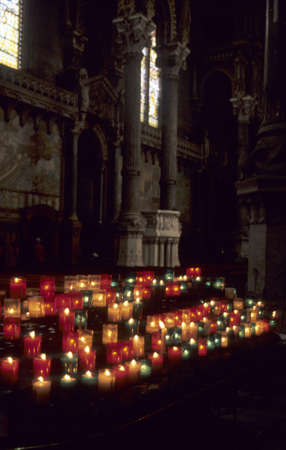 Candles, Lyon Cathedral,  Lyons, France