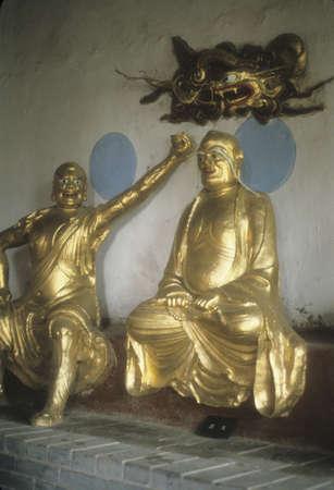 buddha image: in temple,    Xian, China, Asia