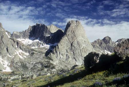 Pingora & Cirque of the Towers, 컨티넨탈 디바이드, 윈드 리버 산맥 록키 산맥 와이오밍 스톡 콘텐츠