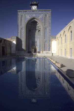 Reflecting pool of  Jami Mosque  Kerman Iran  Stock Photo