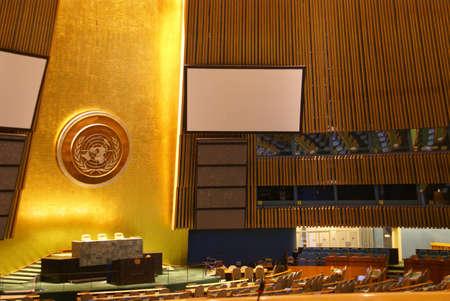 General Assembly Chamber  United Nations Headquarters, New York City  Redakční
