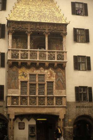 Golden Roof, medieval fa�ade,  Innsbruck Austria  Reklamní fotografie