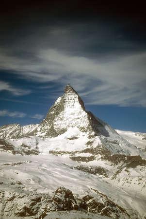 Matterhorn massif with glaciers,  Zermatt, alps, Switzerland