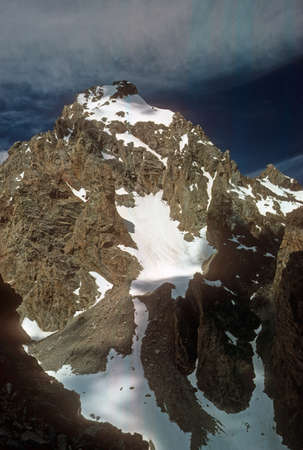East Ridge and face of the Grand Teton,  Grand Tetons  National Park, Wyoming