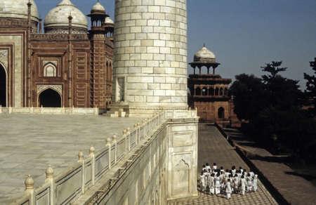 Indian schoolgirls visiting the Taj Mahal  Agra, India