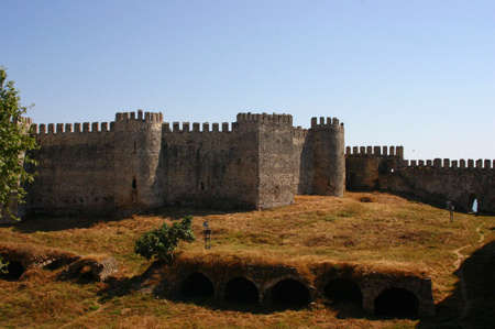 embrasure: Mumure Castle - exterior towers and walls Anamur Turkey