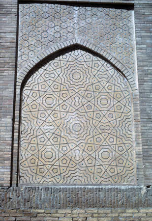 Detail, medresseh decoration,  Bokhara former USSR, now Uzbekistan