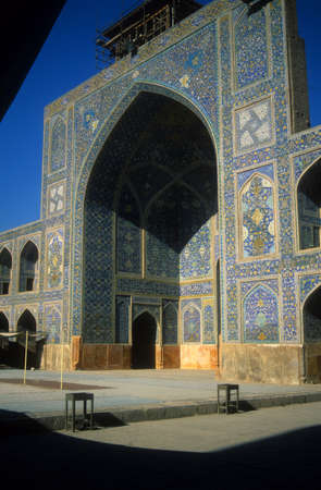Intricate Persian mosaics, Emam Mosque,  Isfahan, Iran, Middle East