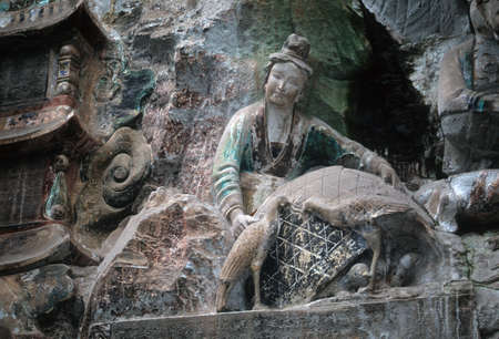 Ancient Confucian & Buddhist sculptures,  Dazu Temples,  Chongqing China photo