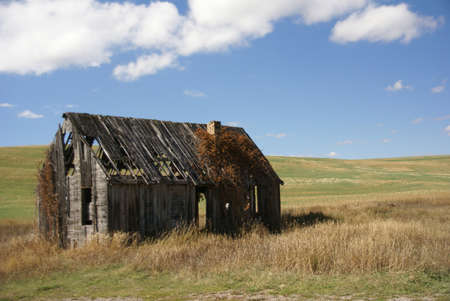 old house: Old house near  Tieton Pass, Wyoming