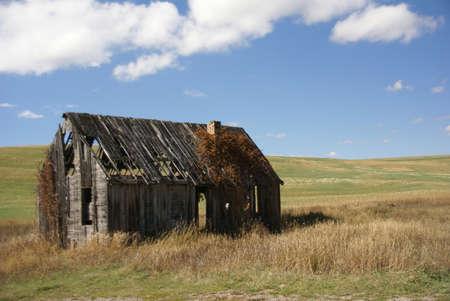 Old house near  Tieton Pass, Wyoming