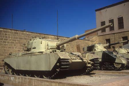 israeli: British Centurion tank,   ,   originally from World War II, then used in Arab - Israeli wars, Military Museum, Citadel Cairo Egypt, Middle East   Editorial