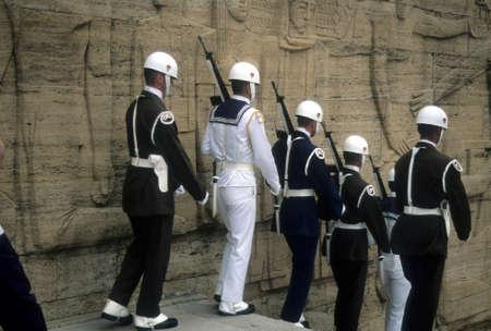 Changing of the guard, Ataturk Mausoleum  Ankara, Turkey