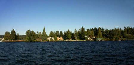 Waterfront home on Lake Washington,  , Seattle garden, Pacific Northwest photo