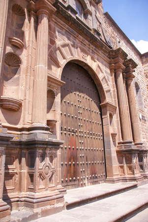 Baroque Spanish Gateway,  Inca temple of the sun (Koricancha / Qorikancha) Cusco,  Peru, South America Stock fotó - 11637385