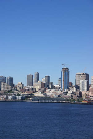 Seattle waterfront skyline, downtown,  Puget Sound,  Pacific Northwest  photo