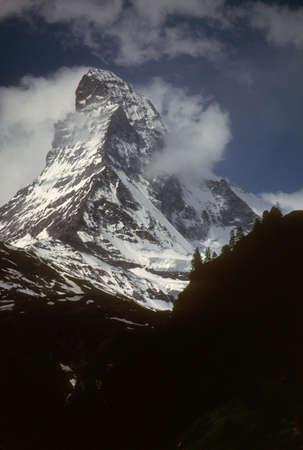 Matterhorn with gathering storm, Zermatt, Switzerland