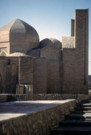 Timurid style brickwork mosque  in Bokhara former USSR, now Uzbekistan