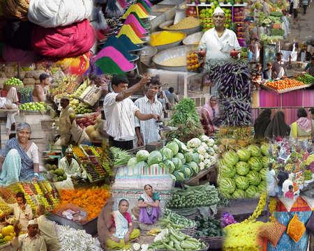 MUMBAI INDIA 2003 - Montage -  India  Markets, food and people from Mumbai, Rajasthan  and Gujarat