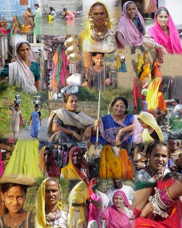 GUJARAT INDIA 2003 - Montage -    Women of India from Mumbai and Gujarat