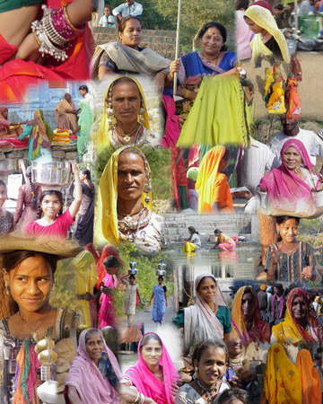 GUJARAT INDIA 2003 - Montage -    Women of India from Mumbai and Gujarat
